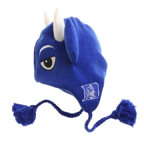 dfe81495733 Blue Devils Winter Ski Pilot Laplander Hat Gift NWT Mascot Basketball
